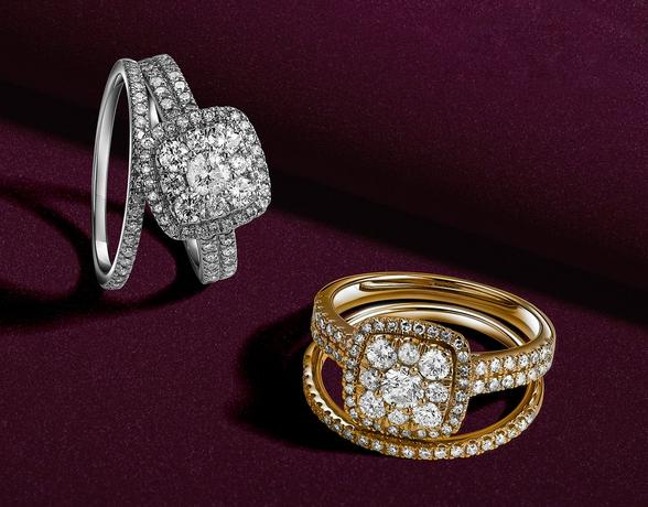 Stunning diamond Bridal Sets in the Christmas collection at Ernest Jones