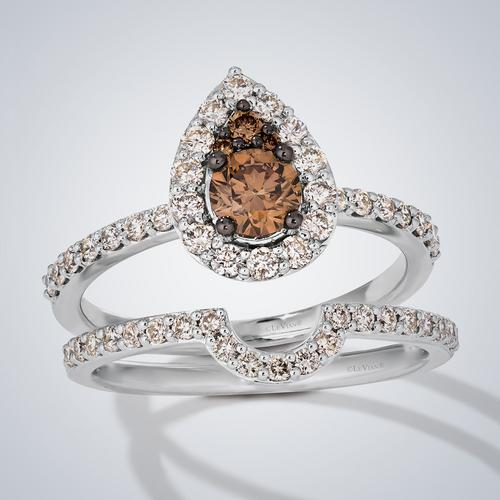 Silver Chocolate diamond ring