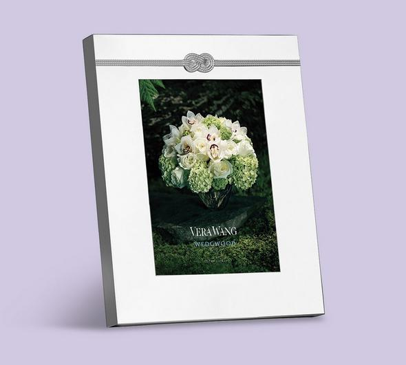 Silver picture frame wedding gift idea