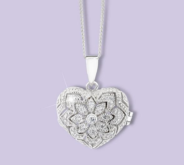 Silver picture locket