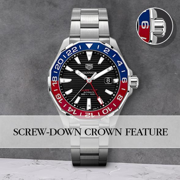 Screw-down crown