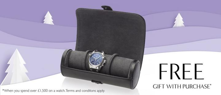 Free Watch Roll with watch purchases over £1500