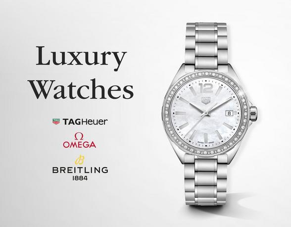 Luxury Watches - TAG Heuer, Longines, Omega, Gucci, Breitling