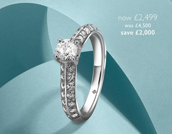 The Diamond Collection - buy exquisite diamond Rings at Ernest Jones