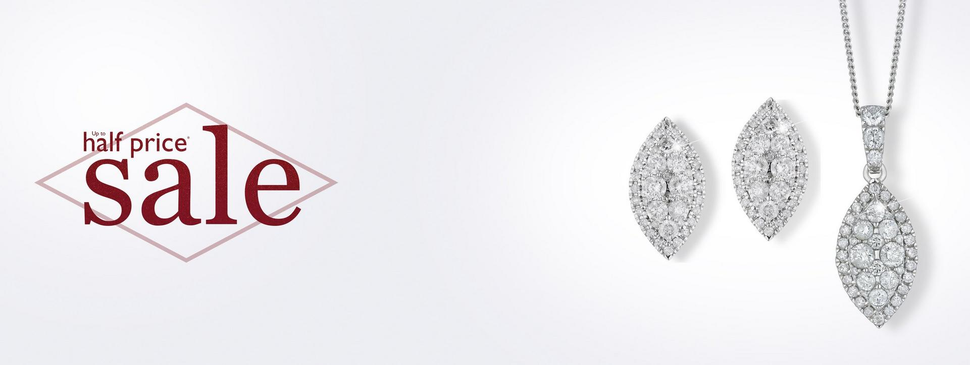 Sparkle with up to 50% off diamonds at Ernest Jones