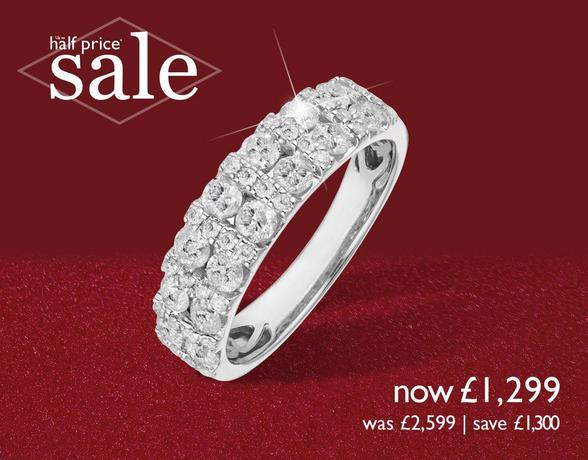 Diamond Eternity Rings at Ernest Jones - now up to 50% off
