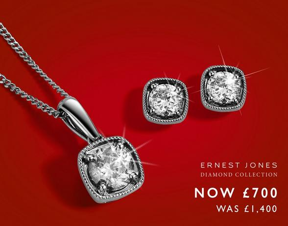 Up to 50% off diamond Jewellery at Ernest Jones