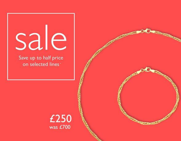 Up to 50% off jewellery sets at Ernest Jones