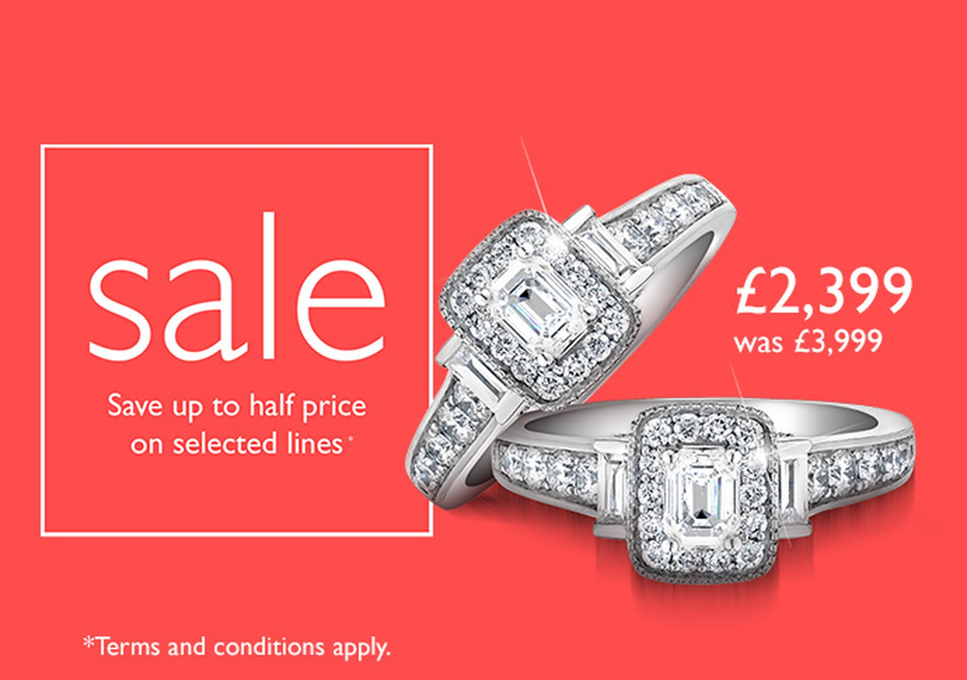 Save up to half price of selected items