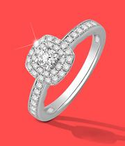 Halo Engagement Rings at Ernest Jones - now up to 50% off