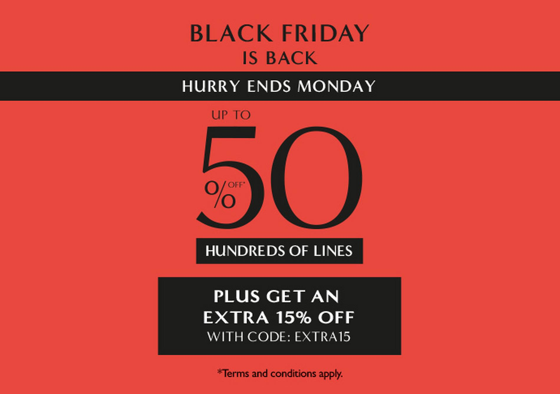 Up to half price on hundreds of lines at Ernest Jones