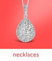 Up to half price diamond necklaces at Ernest Jones