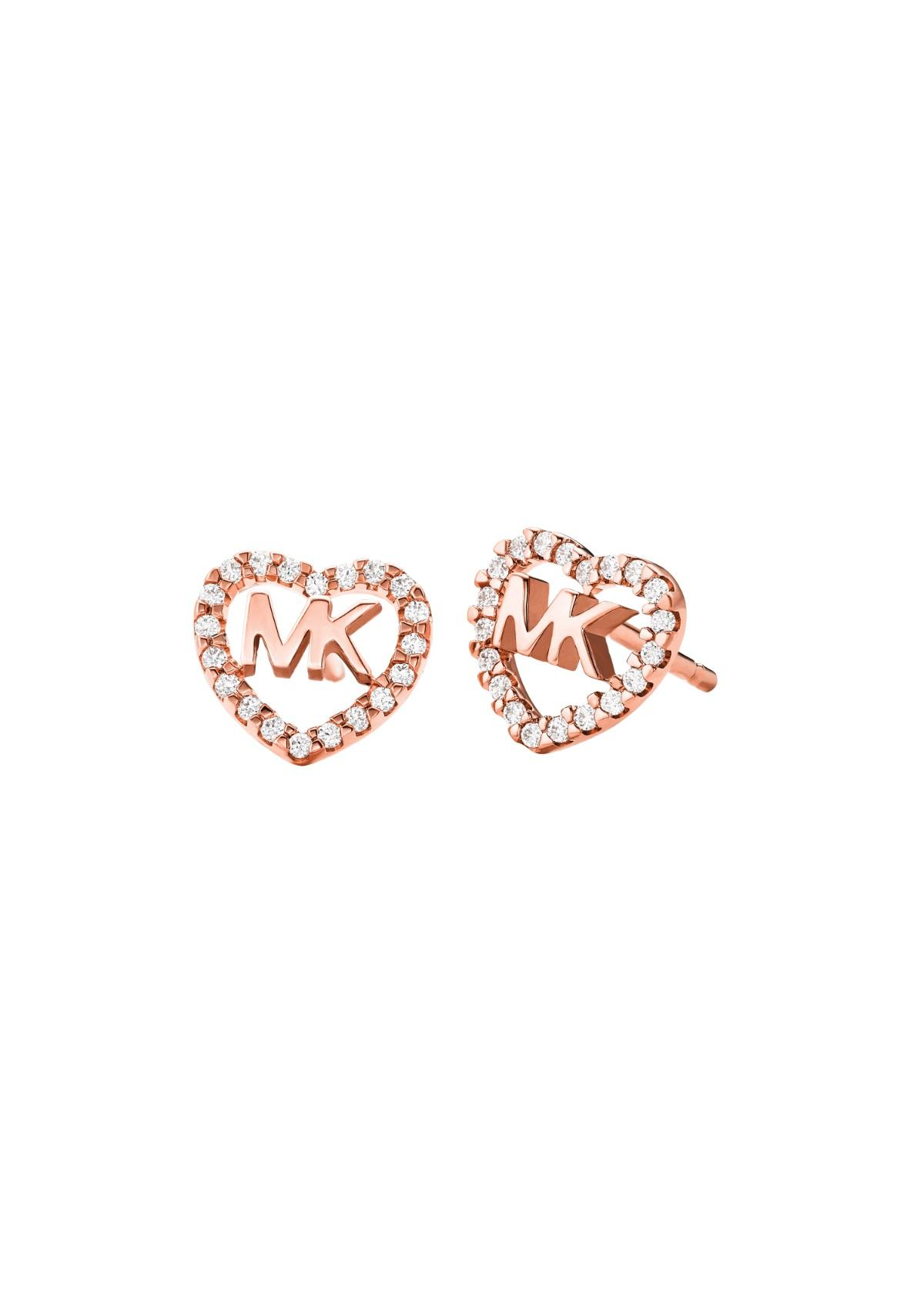 Rose Gold MK stud earrings