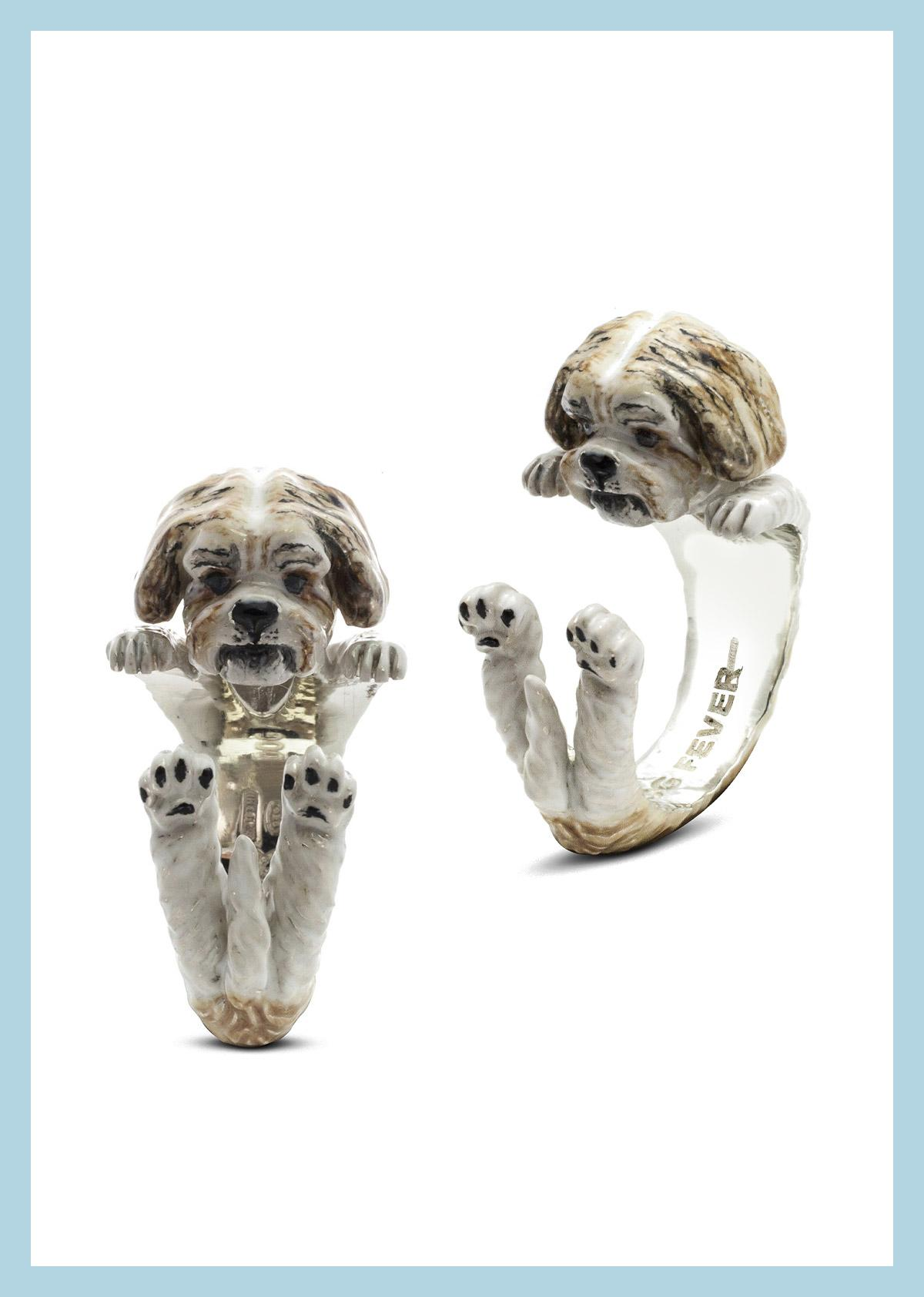 Dog Fever Shih Tzu Hug Ring