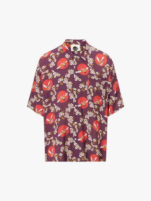 Boardies Tanchozuru Open Collar Shirt