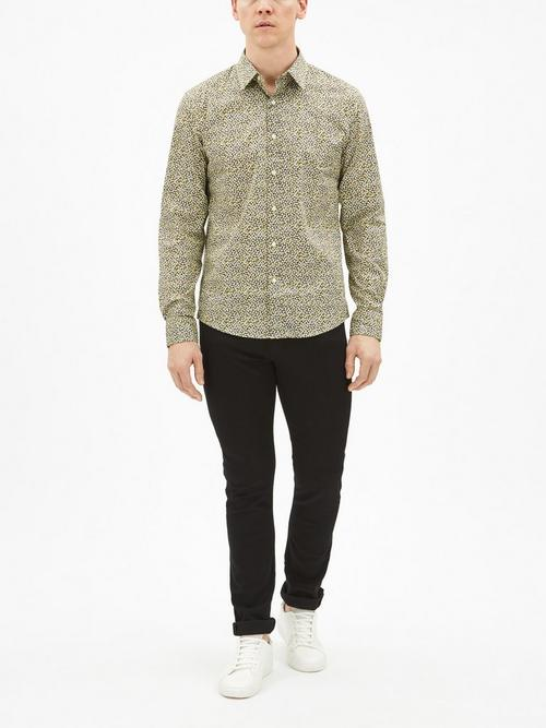 Michael Kors Slim Fit Floral Print Shirt