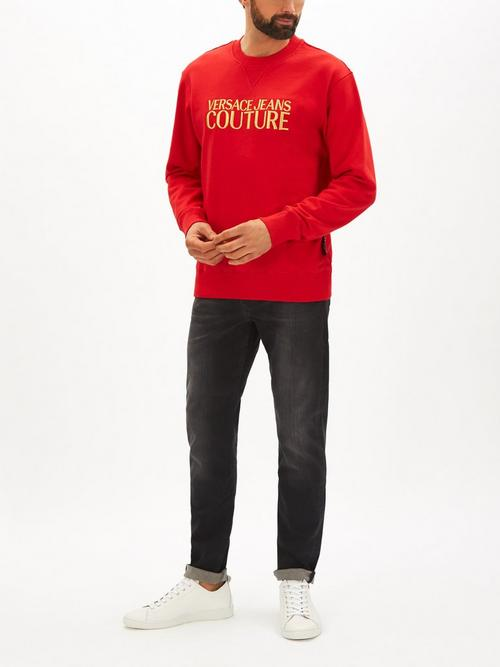 Versace Jeans Couture Logo Embroidered Sweatshirt