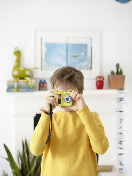 Easton taking a photograph
