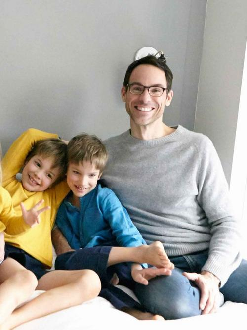 Easton and Quin with their father Michael