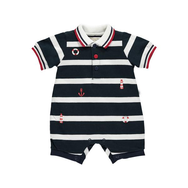 Emile et Rose Wide Stripe Nautical Romper