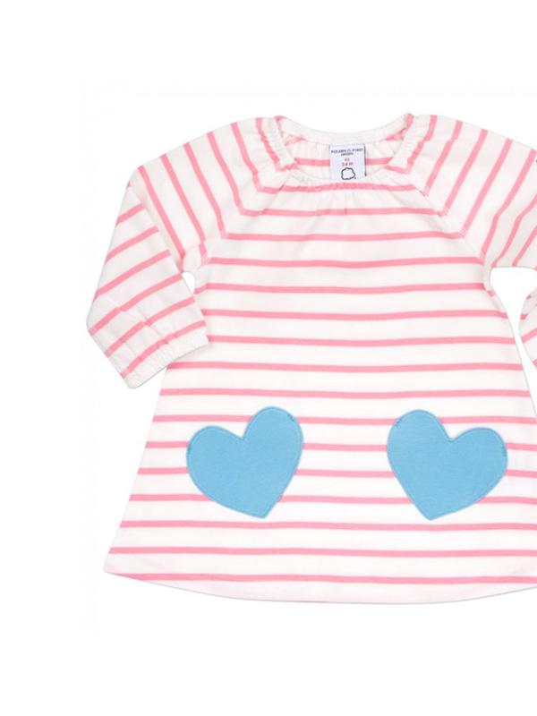 Polarn O.Pyret Striped Newborn Baby Dress