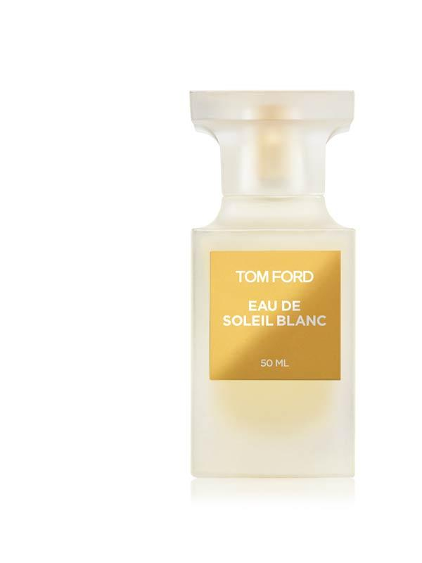 Tom Ford Eau de Soleil Blanc white and gold bottle