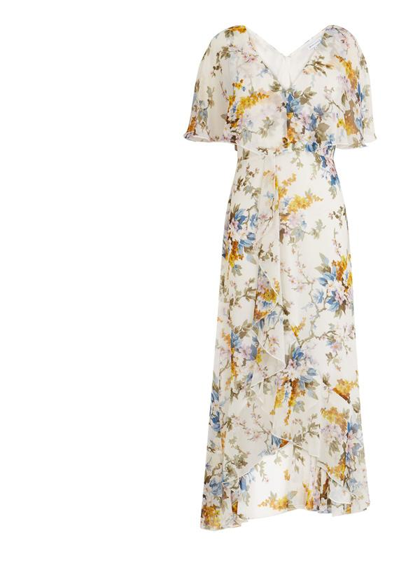 Warehouse Floral Midi Dress
