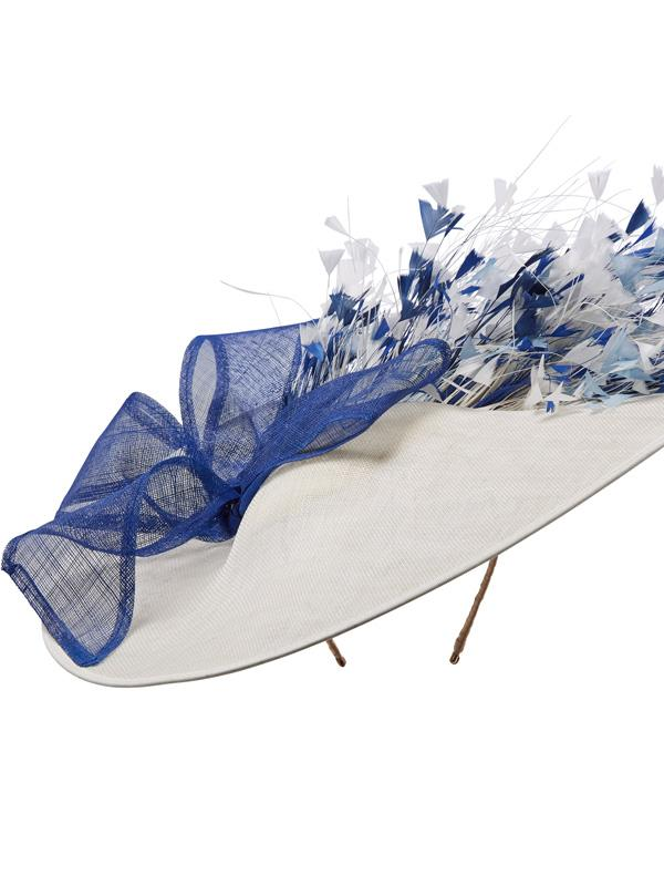 Blue and white wide brim Hostie Hats Cosmopolitan