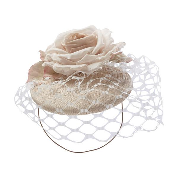 Hostie Hats Rum with flower and netting