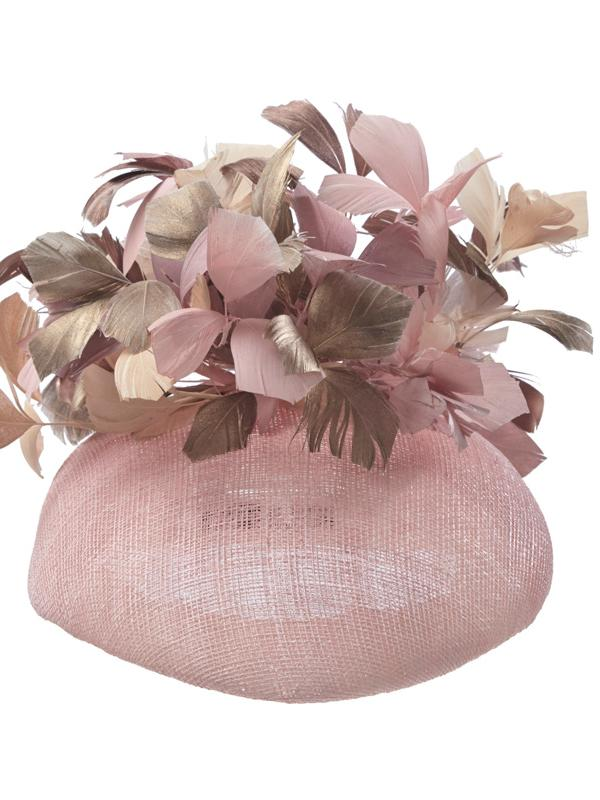 Pink Hostie Hats Spritz with feathers