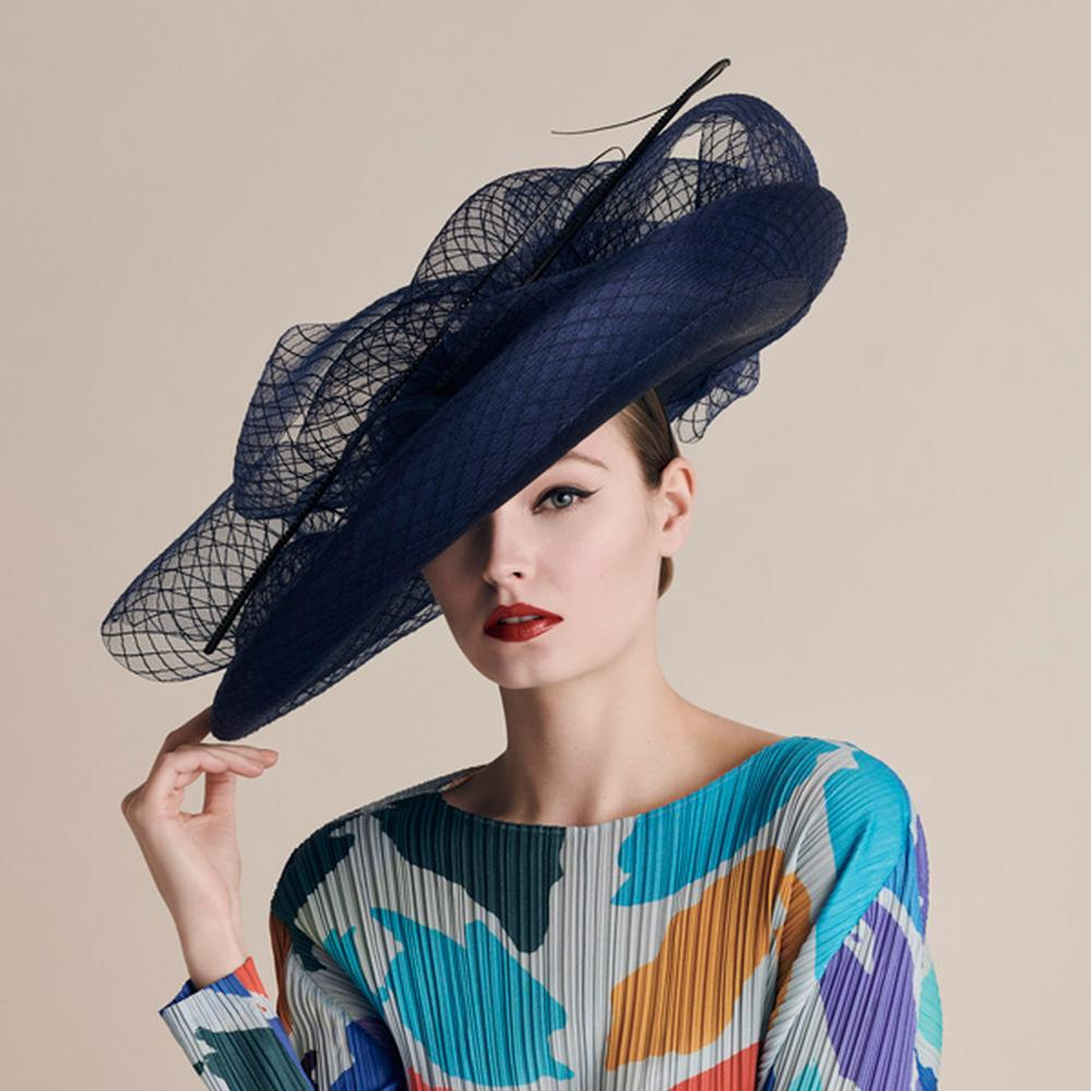 Model in a Cara Meehan hat