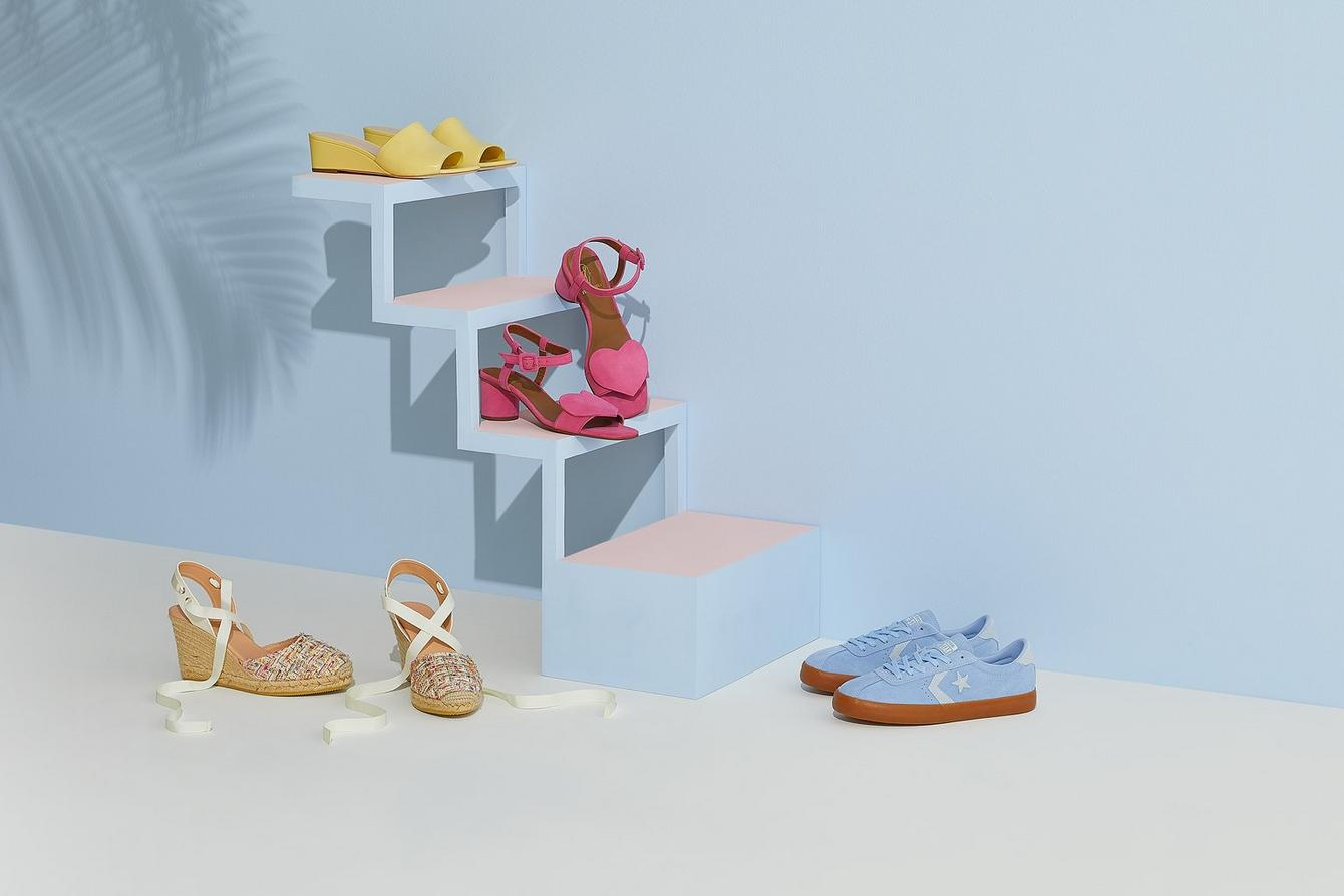 Selection of pastel shoes for spring