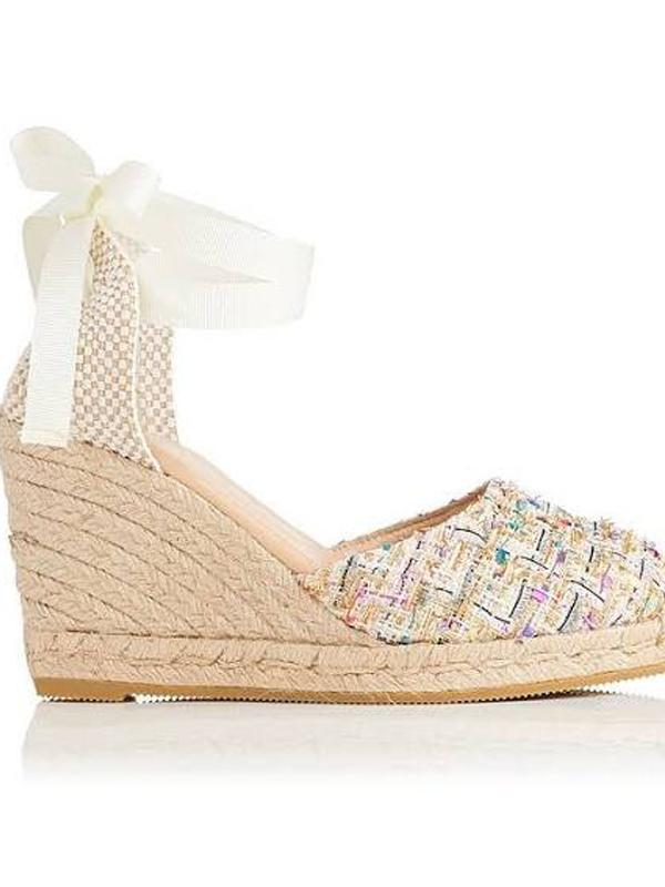 L.K Bennett Tweed Wedge Espadrille