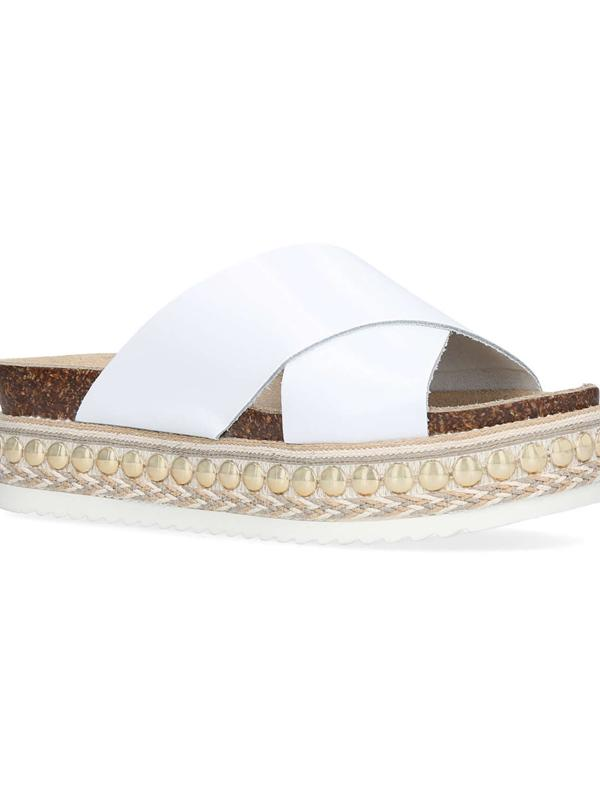 Carvela Kurt Geiger Kake Flatform Sliders in White