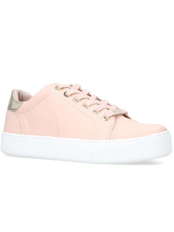 Carvela Kurt Geiger Loot Low Top Trainers in Nude