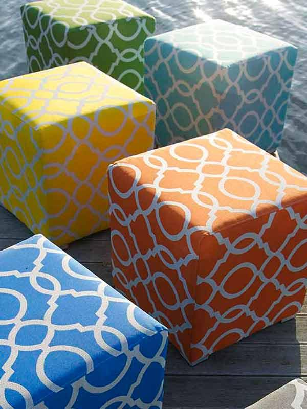 Bramblecrest Cubic Stool in Various Colours