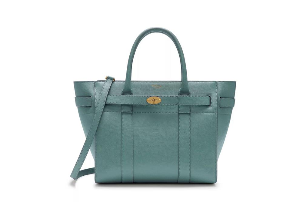 Mulberry Zipped Bayswater in Antique Blue