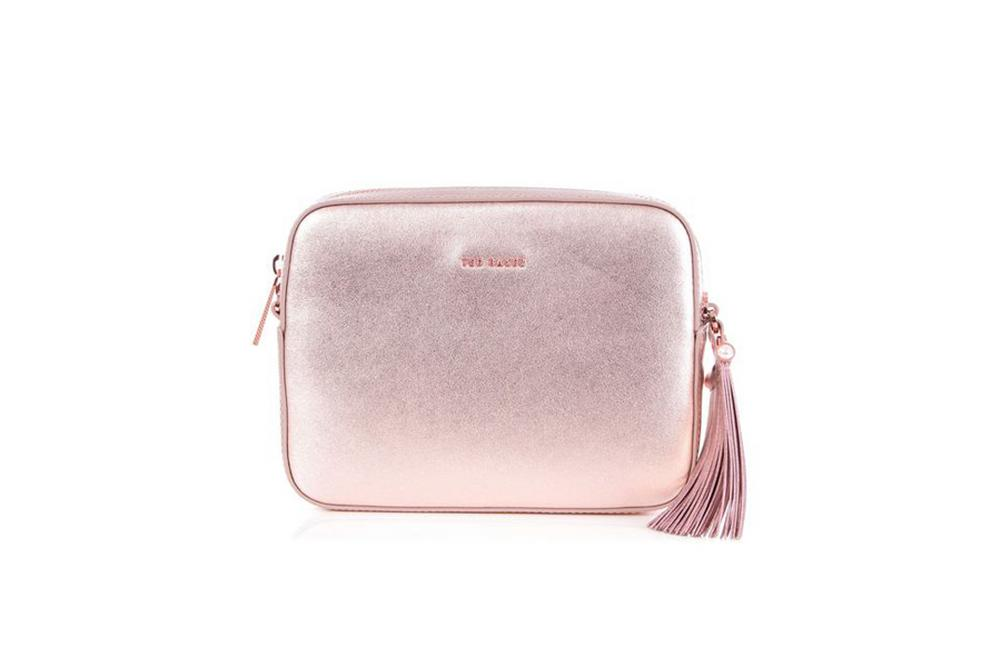 Ted Baker Amora Cross Body Bag in Rose Gold