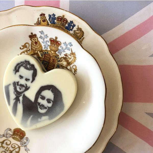 Choc On Choc Meghan and Harry Chocolate Heart