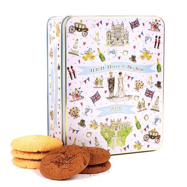 Milly Green Royal Wedding Embossed Biscuit Tin