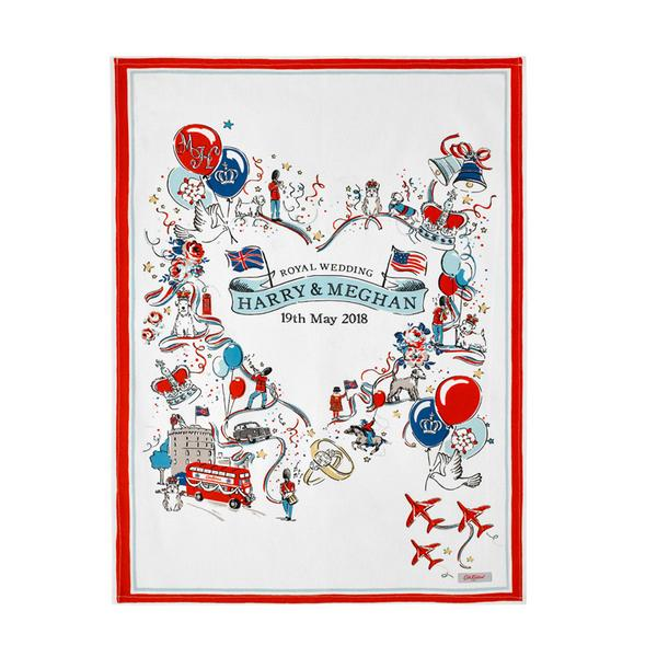 Commemorative Illustrated Tea Towel