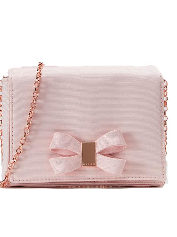 Ted Baker Stacyy Bow Clutch in Pink
