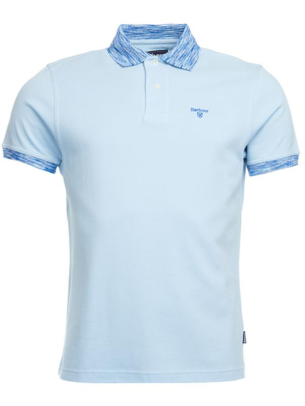 Barbour Polo Shirt in Pale Blue
