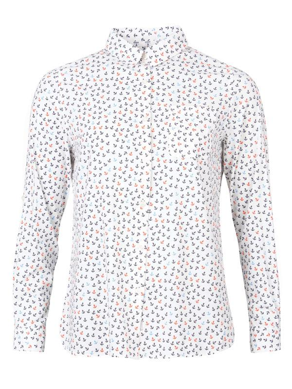 Barbour Shirt with Anchor Print
