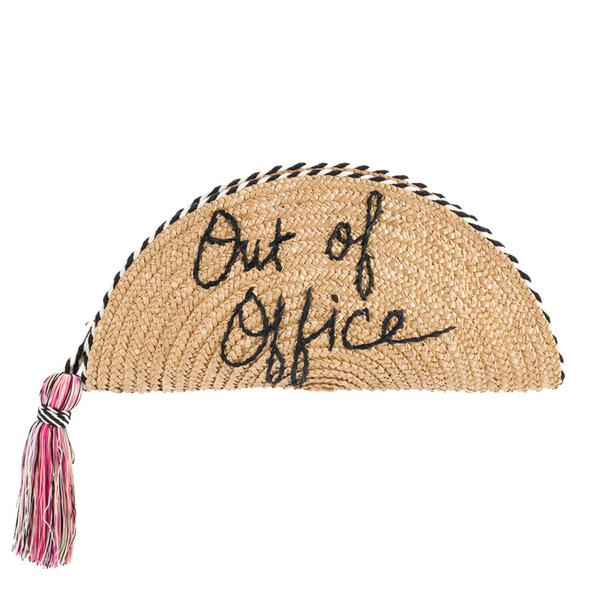 Rebecca Minkoff Out of Office Straw Taco Clutch