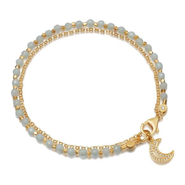 Astley Clarke Amazonite Moon Biography Bracelet