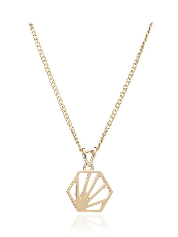 Rachel Jackson London Serenity Necklace in Gold