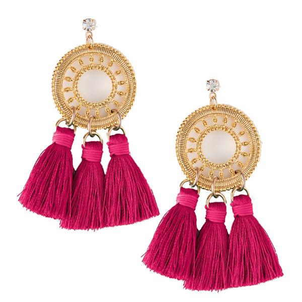 Orelia London Statement Filigree Tassel Earrings