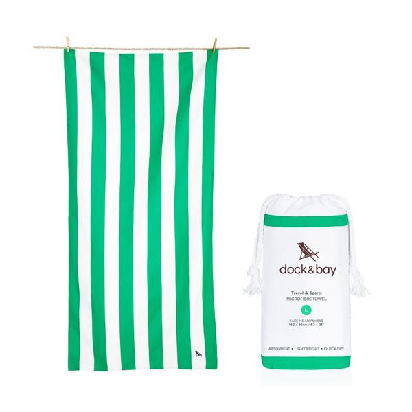 dock & bay Cabana Microfibre Towel in Cancun Green