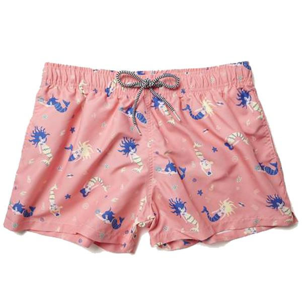 Boardies Mermaid Pink Shortie Swim Shorts